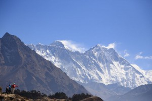 Erster Blick auf Mt.Everest