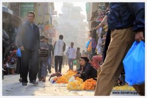 Marktstrasse in Kathmandu