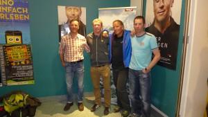 Wolfgang, Florian, Andy und Klemens bei der Kinopremiere in Innsbruck