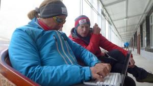 Andy mit Flo beim Blogen Foto: Wolfgang Klocker