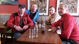 Klemens, Flo, Wolfi und Andy satt aber müde
