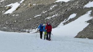 Flo, Andy, Wolfi am feinen Gletscherboden