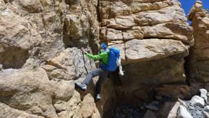 Klemens kann das Klettern nicht lassen