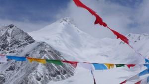 Mystische Stimmung mit Lhakpa Ri im Hintergrund
