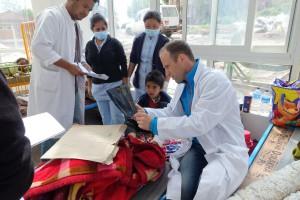 Matthias bei der Arbeit im Dhulikhel Hospital