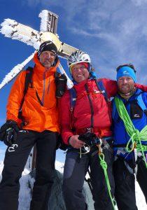 Wolfi, Andy und Klemens am Grossglockner 3.798m (Florian Brunner)