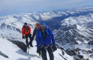 Klemens, Andy und Wolfi beim Aufstieg zum Grossglockner (Florian Brunner)