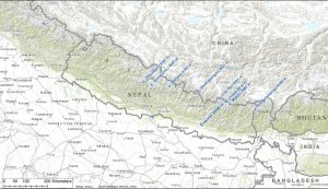 8000er Bereich Nepal China (Karte Andreas Unterkreuter)