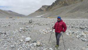 Andy nach der Ankunft im Chinies Basecamp (Foto Klemens Bichler)