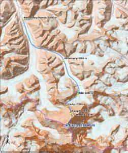 Aufstiegs - Karte (Andreas Unterkreuter)