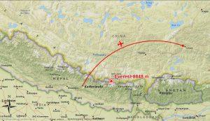 Flug Kathmandu nach Lhasa (Andreas Unterkreuter)