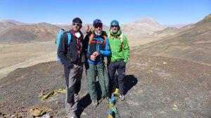 Klemens, Andy und Wolfi bei der ersten Akklimatisierungstour in Xegar auf 4600m (Foto Martin Böhm)