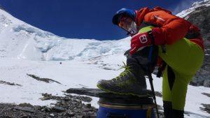 Andy auf 6.650 m mit Leggera von Dachstein (Foto Wolfgang Klocker)