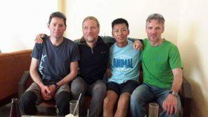 Klemens, Andy, Tenzing und Wolfi (Foto Archiv Holzer)