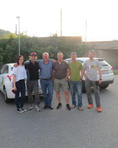 Manfred mit Team und Andy, Klemens und Wolfi (Foto Sabine Holzer)