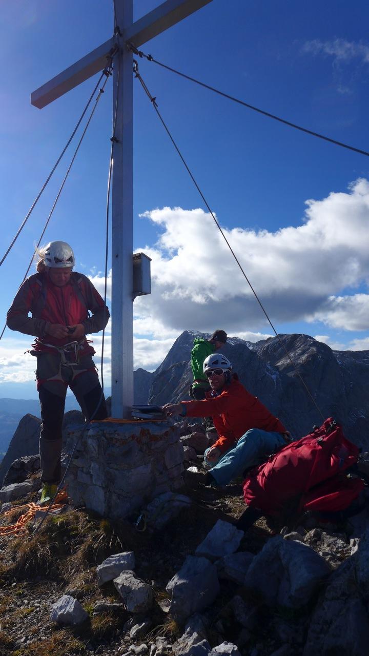 Gipfelfoto Allesblind Gamsleitenkopf - Andy, Klemens und Martin (Foto: Andreas Unterkreuter)