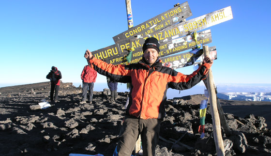 Andy am Kilimanjaro