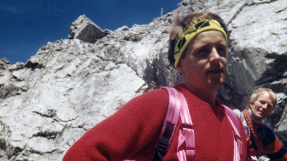 Klettertour kurz vorm Gipfel