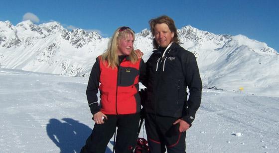 Andy und Sabine genießen den Winter