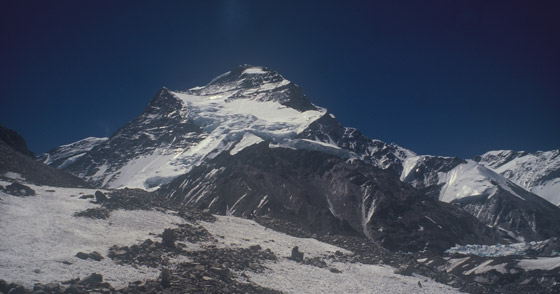 Cho Oyu from the base camp