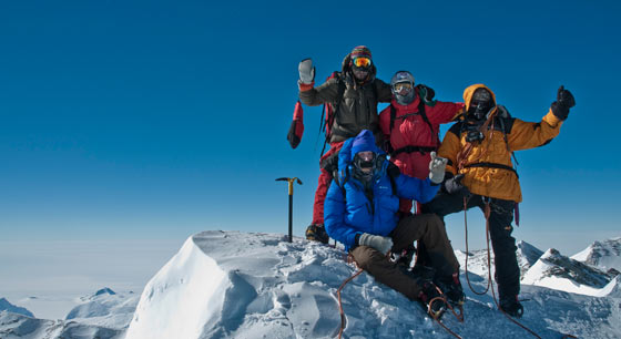 Mt. Vinson summit photo