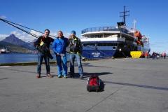 Tom Andy Anda bei der Einschiffung auf die ORTELIUS in Ushuaia (Dominik Mueller)