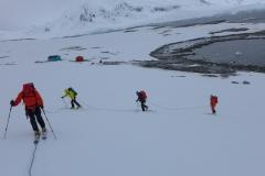 Unsere Seilschaft beim Skiaufstieg (Andreas Unterkreuter)