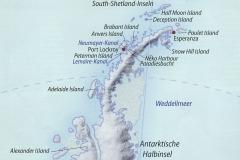 Kartenausschnitt Antarktische Halbinsel