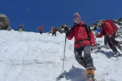Abstieg unseres Teams vom Ararat (Foto: David Denifl)