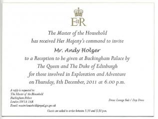 Empfang im Buckingham Palace - Dezember 2011