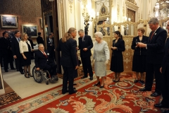 Royale Begegnung im Buckingham Palace mit Queen Elisabeth und Prinz Philip - Duke of Edinburgh