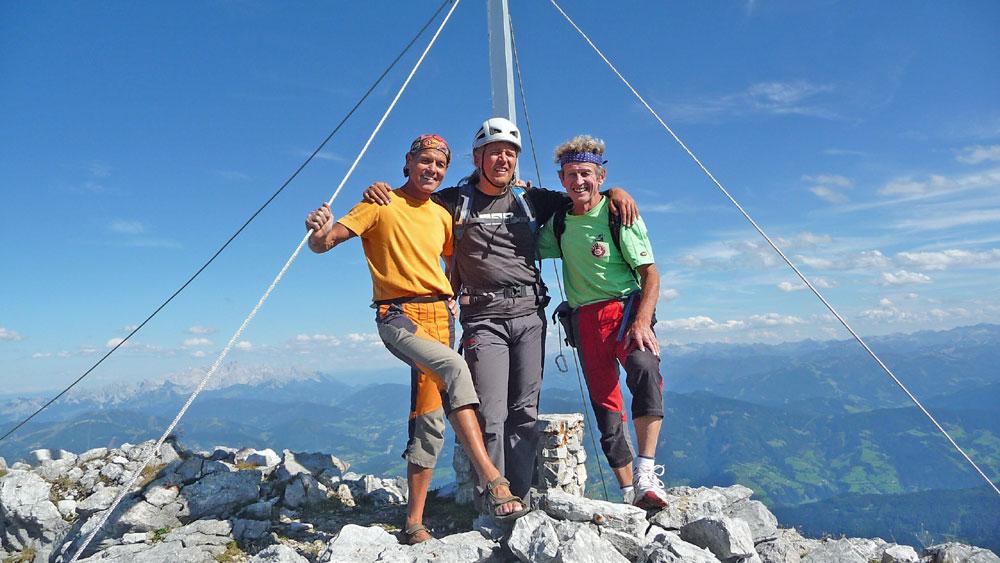 Sigi Andy Und Albert Am Gipfel Des Gamsleitenkopf  Foto