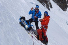 Klemens und Andy rasten beim Aufstieg zum Nordsattel (Foto Wolfgang Klocker)