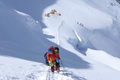 Gipfelsturm - Andy beim Aufstieg zu Lager 1 (Foto Wolfgang Klocker)