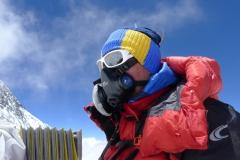 Gipfelsturm - Andy mit Maske (Foto Klemens Bichler) P1070593