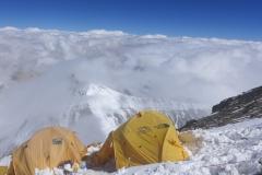 Unser Lager 3 auf 8300m (Foto Wolfgang Klocker)