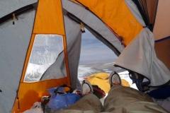 Blick aus dem Zelt im Camp 1 - 07-05-2011