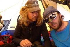 Andy und Anda im Zelt Lager 2 - 15-05-2011