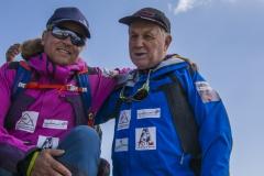 Andy mit Sepp Hinding am Gipfel des Alam-Kuh 4850m (Andreas Scharnagl)