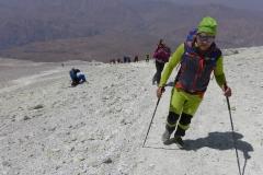 Andy und Billi beim Gipfelgang zum Damavand (Andreas Unterkreuter)