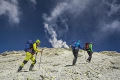 Aufstieg zum Damavand mit Schwefelfahnen (Andreas Scharnagl)