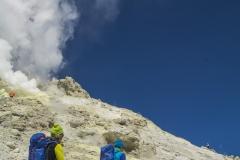 Schwefelfahnen am Gipfel des Damavand (Andreas Scharnagl)