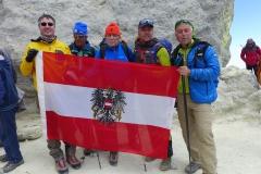 Andy mit Sepp Hinding - Ewald Putz - Jörg Moritz - Alexander Rieger am Gipfel des Damavand 5671m  (Andreas Unterkreuter)