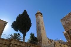 Ein Minarett nahe der Grabeskirche (Foto: Andreas Unterkreuter)