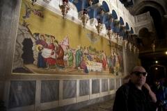 Fresko beim Salbungsstein in der Grabeskirche (Foto: Daniel Kopp)