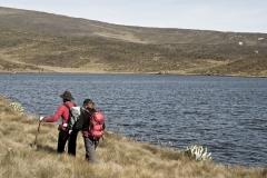 Herbert und Andi wandern am Lake (Foto: Andreas Scharnagl)