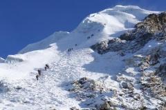 Aufstieg zum Lobuche Peak (Foto: Wolfgang Klocker)