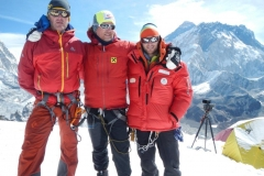 Wolfi, Andy und Daniel am Lobuche Peak (6119m) (Foto: Daniel Kopp)