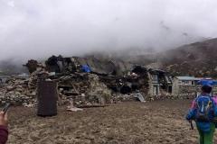 Das Haus von Tenzing nach dem Erdbeben