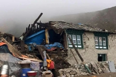 Thame, das Dorf wo Tenzing zu Hause ist, nach dem Beben